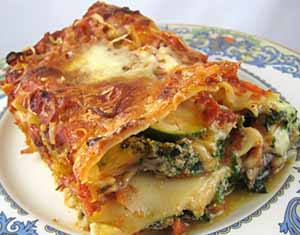 Spicy Vegetarian Lasagna how to make Spicy Vegetarian Lasagna recipe