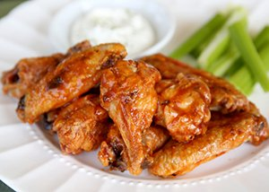 Baked chicken wings,five alarm chicken wings