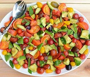 Basil Avocado Yummy Salad Recipe