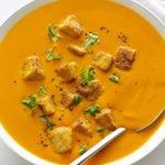 Carrot Ginger Soup Pan Fried Tempeh Recipe