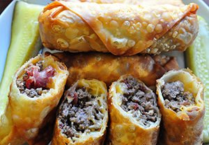 Cheeseburger Egg Rolls Recipe