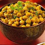 Curried Chickpeas recipe in oven
