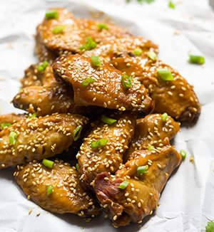 Fried Teriyaki chicken wings