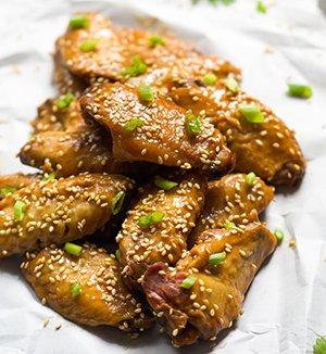 Fried Teriyaki chicken wings