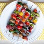 Grilled Veggies on Skewers recipe
