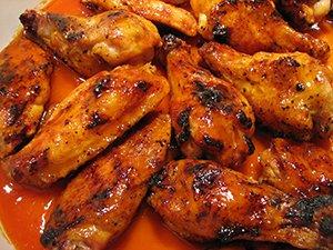 hot mustard chicken wings in oven