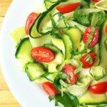 Lemony Tangy Cucumber Salad Recipe