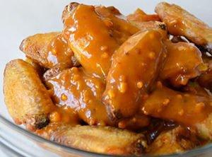 peanut sate chicken wings