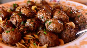 Salisbury Steak Meatballs Gravy Mashed Potatoes