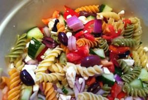 Greek Pasta Salad Recipe, How To Make Greek Pasta Salad